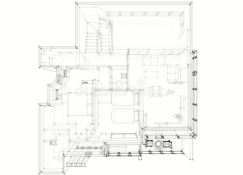 ritningdesigner vektor illustrationer