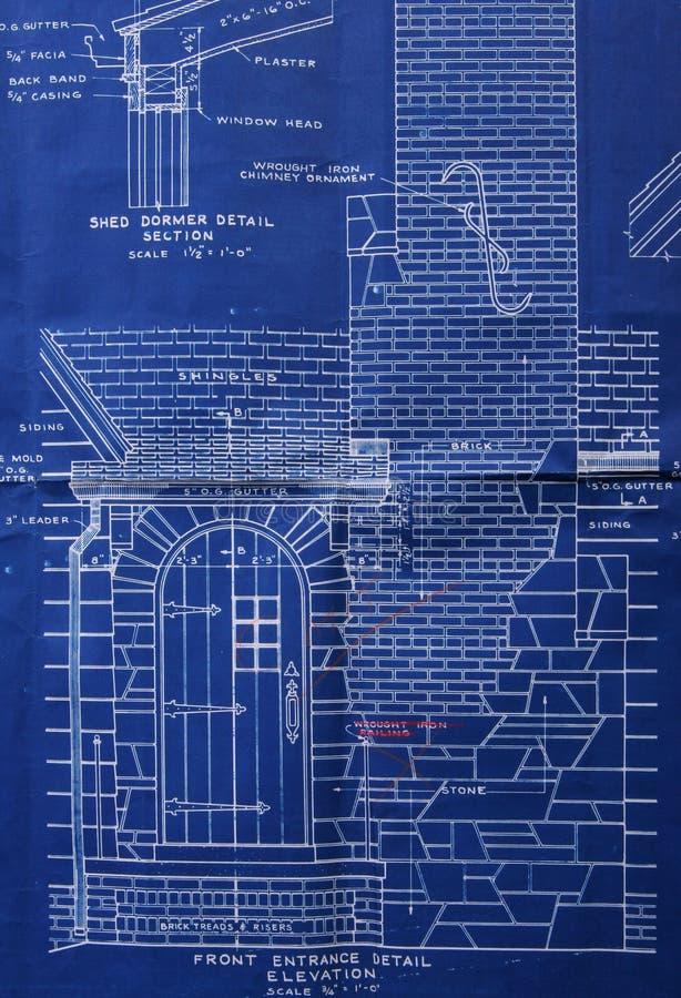 ritningdetaljframdel arkivbild