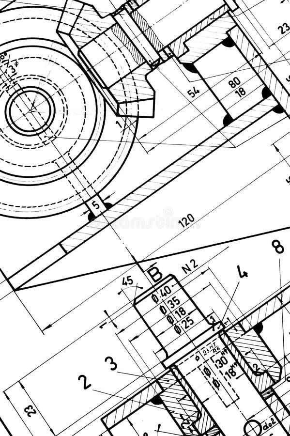 ritningteknik arkivbild