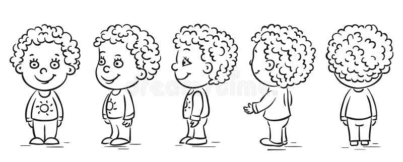 Ritorno del personaggio dei cartoni animati del bambino royalty illustrazione gratis