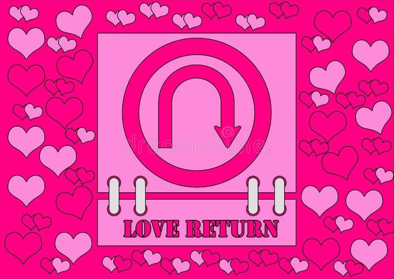 Ritorno di amore immagini stock libere da diritti