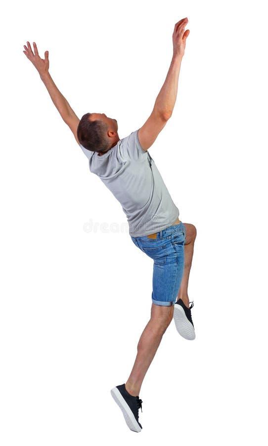 Ritorno di un uomo che balla in pantaloncini fotografia stock libera da diritti