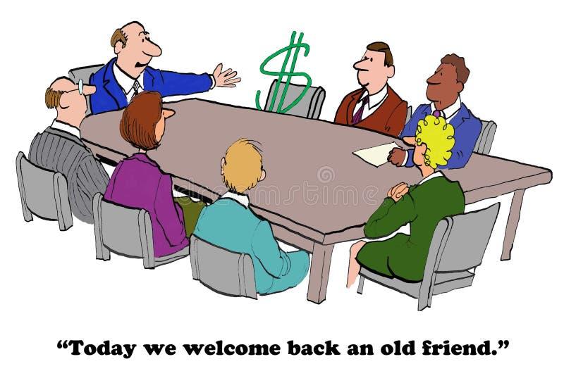 Ritorno finanziario illustrazione di stock