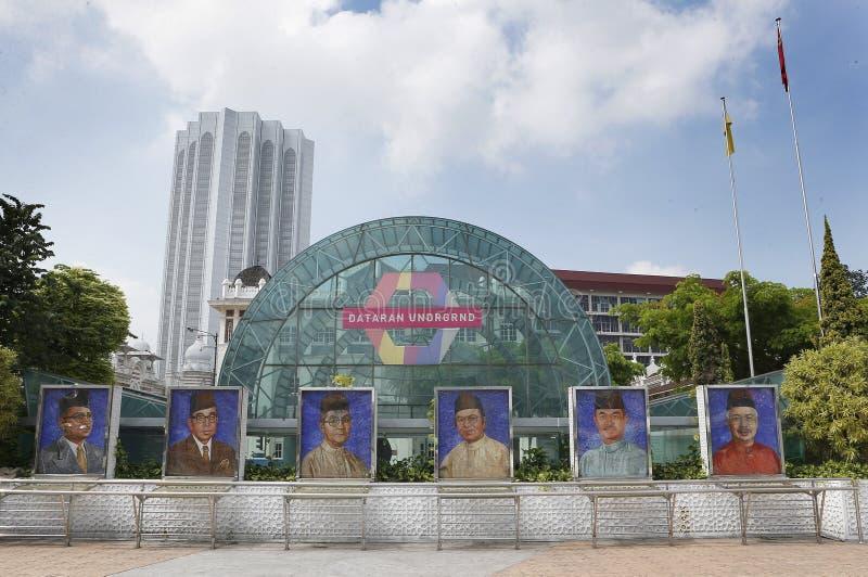 Ritratti del Primo Ministro di passato e presente del ` s della Malesia fotografia stock libera da diritti