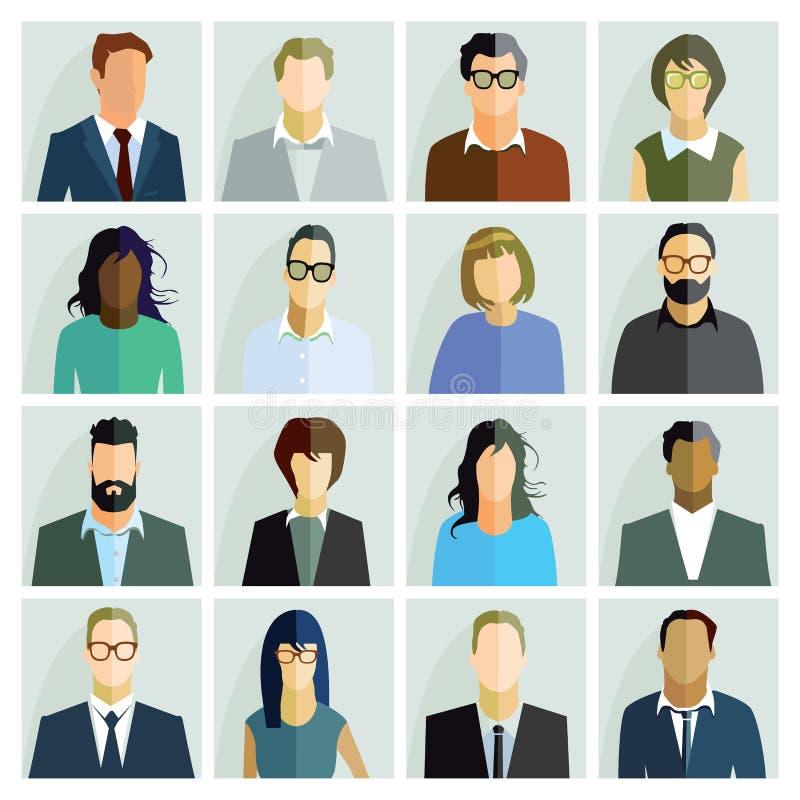 Ritratti della gente illustrazione di stock