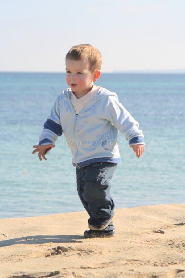 Ritratto 02 della spiaggia del ragazzino fotografia stock libera da diritti