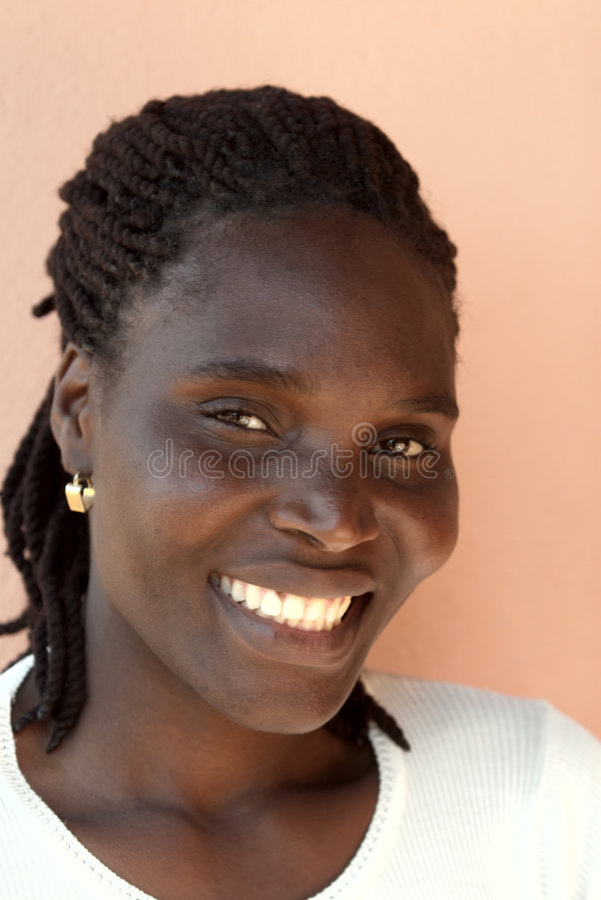 Ritratto africano della donna immagine stock libera da diritti