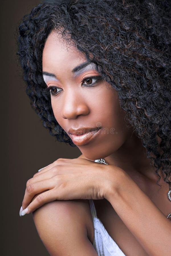 Ritratto africano della donna fotografia stock
