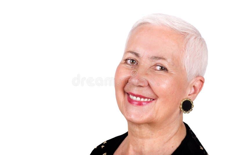 Ritratto allegro della nonna immagini stock libere da diritti