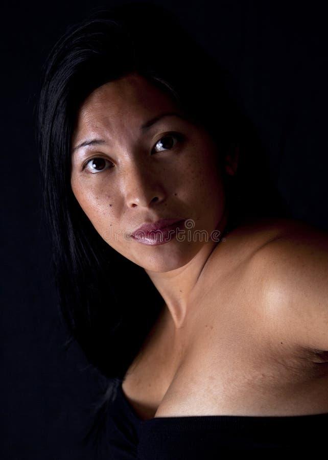 Ritratto asiatico della donna immagini stock