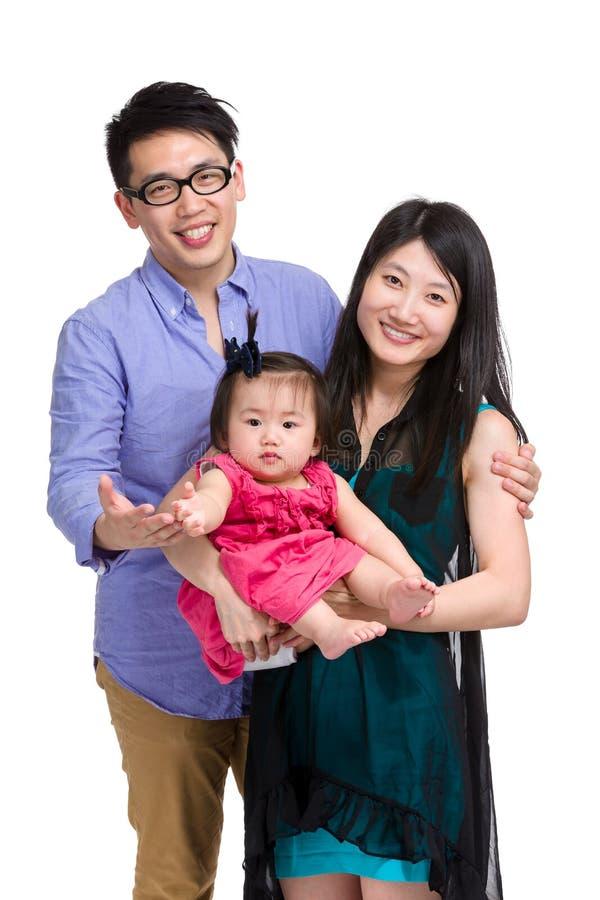 Ritratto asiatico della famiglia immagine stock libera da diritti