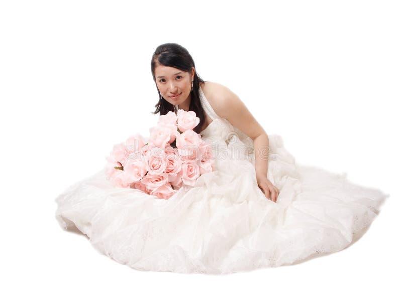 Ritratto asiatico della sposa immagini stock