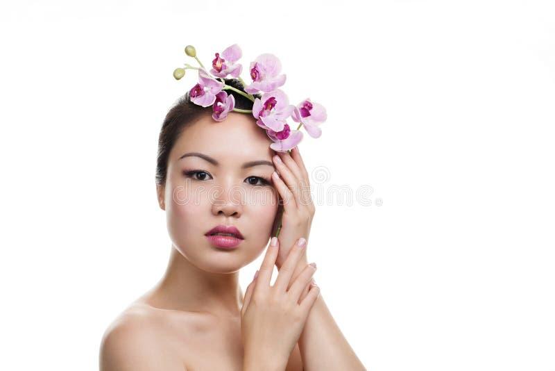 Ritratto asiatico di bellezza fotografia stock