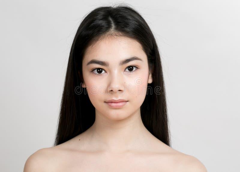 Ritratto asiatico di bellezza della ragazza della donna immagine stock libera da diritti