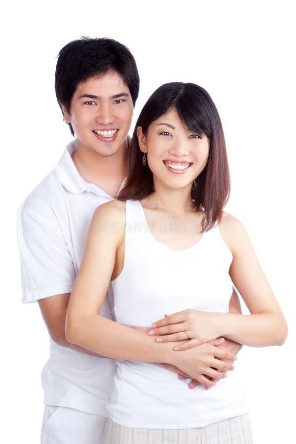 Ritratto asiatico felice delle coppie immagine stock libera da diritti