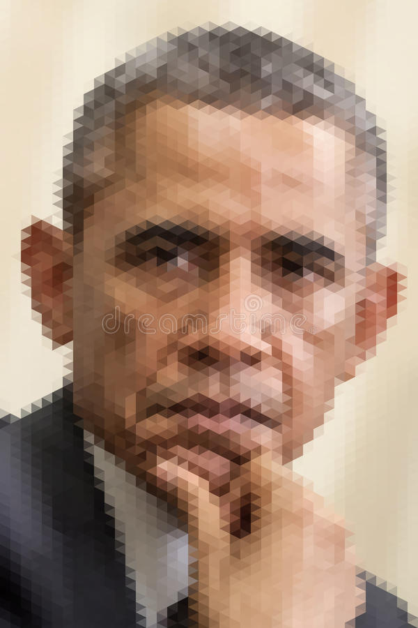 Ritratto astratto di Barack Obama illustrazione di stock