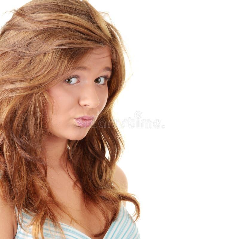 Ritratto attraente del brunette fotografia stock libera da diritti