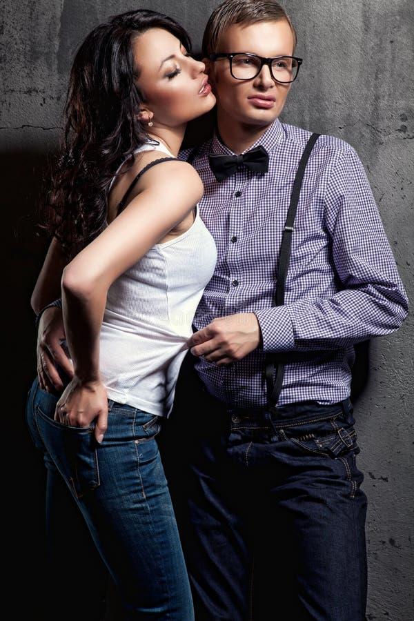 Ritratto bei amanti di due di una sessualità fotografie stock libere da diritti