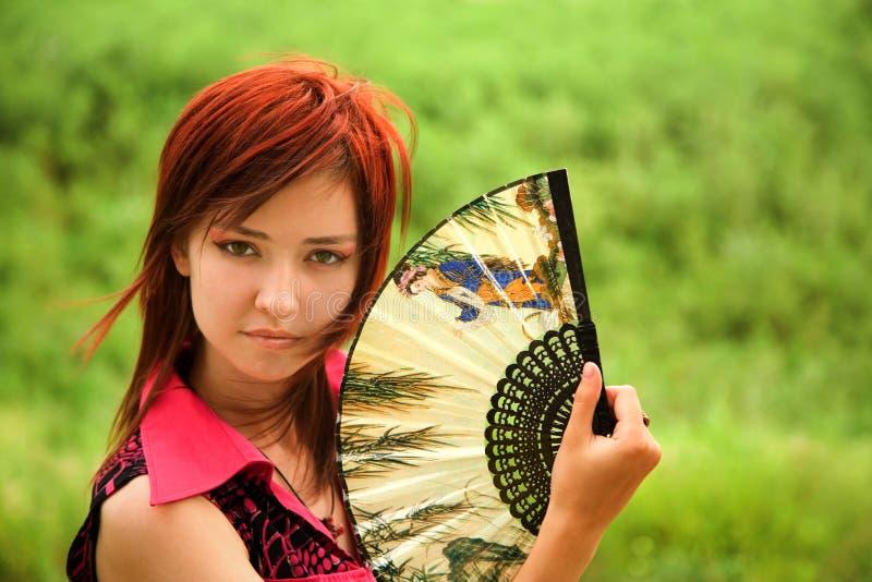 ritratto bello della ragazza fotografia stock
