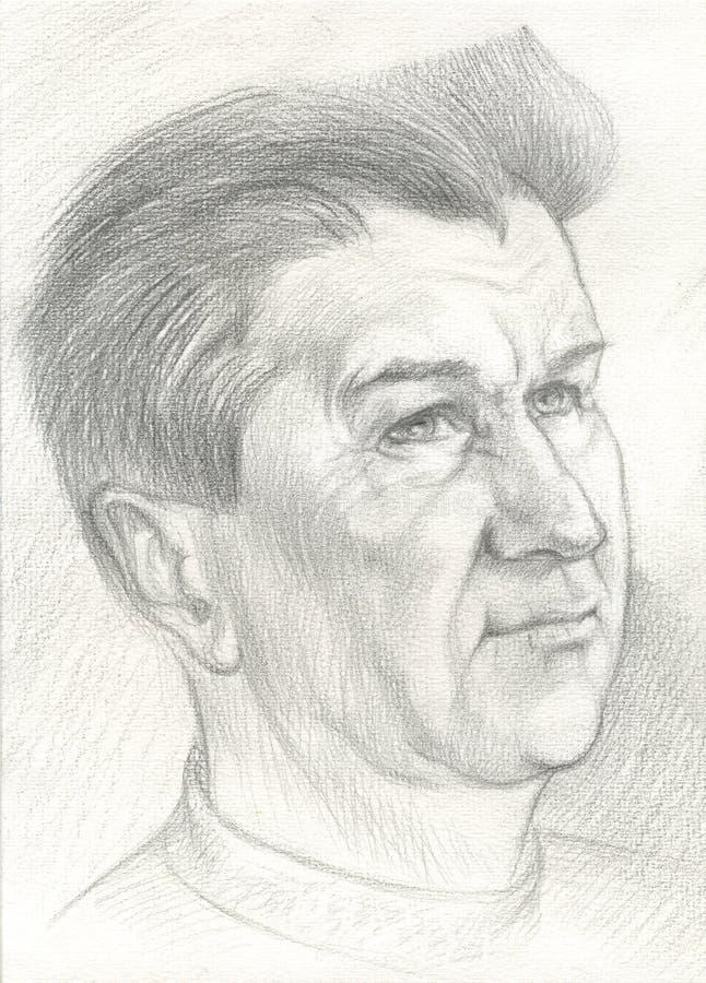 Ritratto in bianco e nero di un uomo fotografia stock