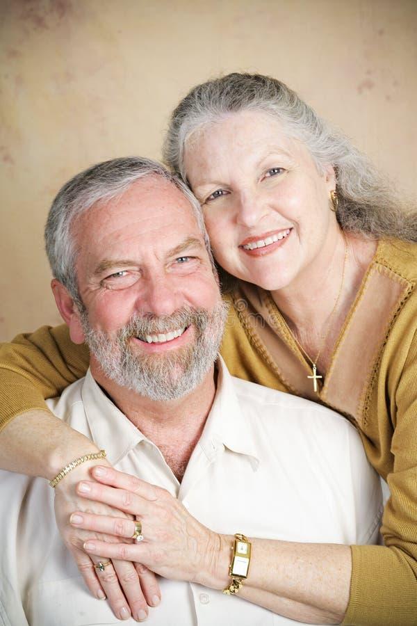 Ritratto - Christian Senior Couple immagini stock libere da diritti