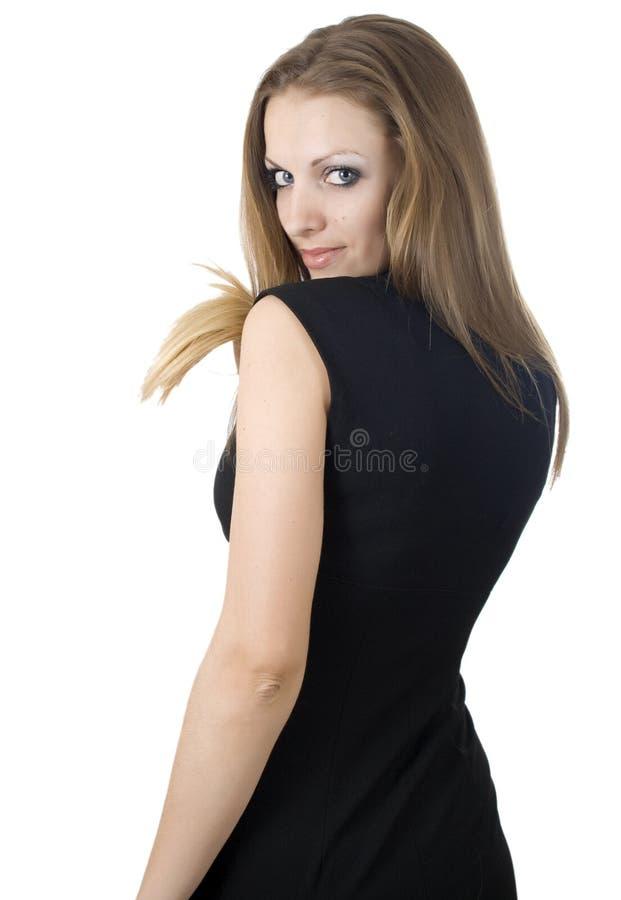 Ritratto classico di bellezza di giovane ragazza sexy con fotografie stock