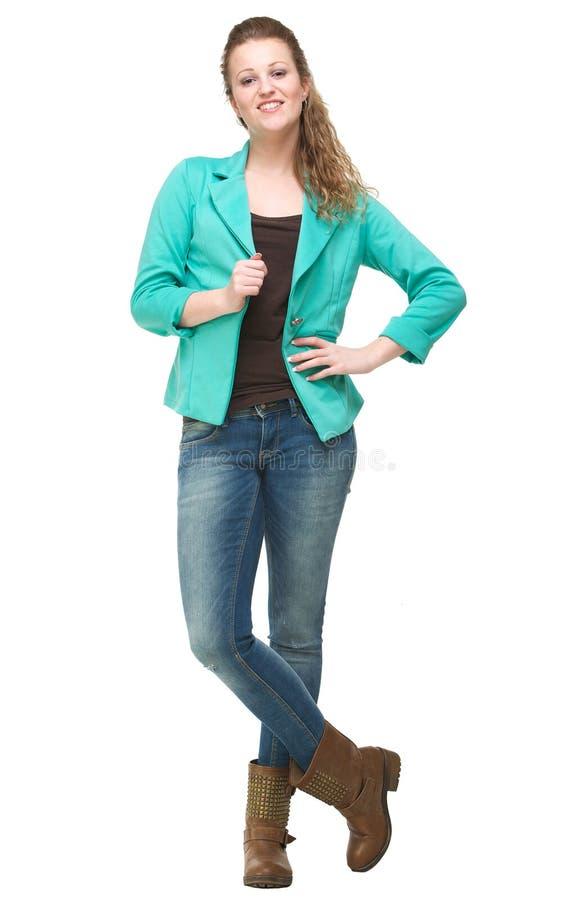 Ritratto completo del corpo della ragazza sorridente fotografie stock libere da diritti