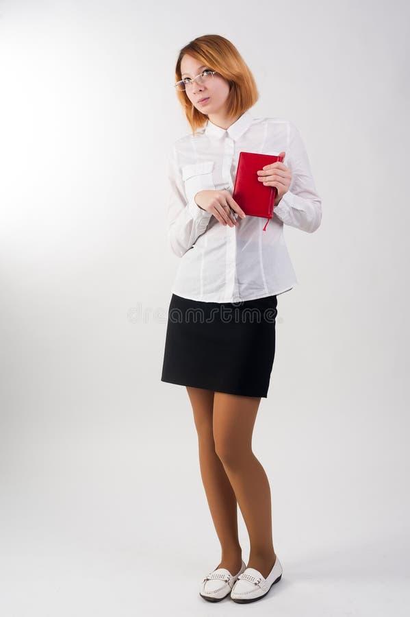 Ritratto completo del corpo di giovane donna di affari fotografie stock libere da diritti