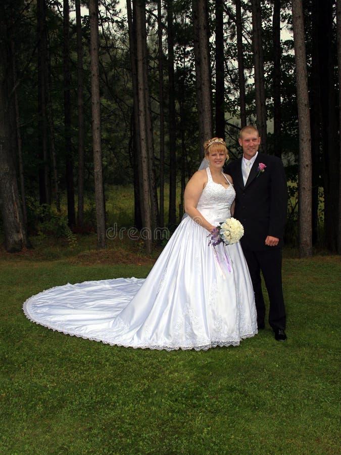 Ritratto convenzionale dello sposo e della sposa fotografia stock