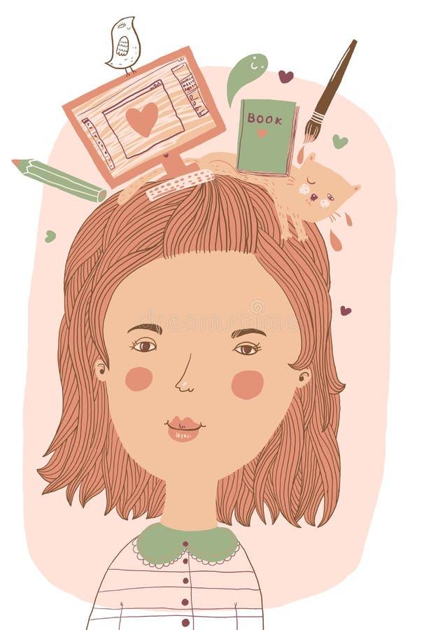 Ritratto degli illustratori royalty illustrazione gratis