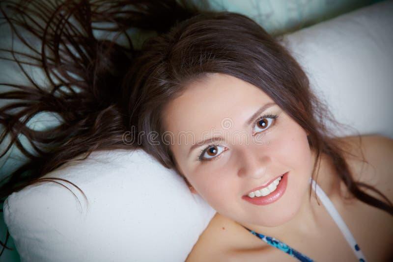 Ritratto dei Brunettes fotografia stock