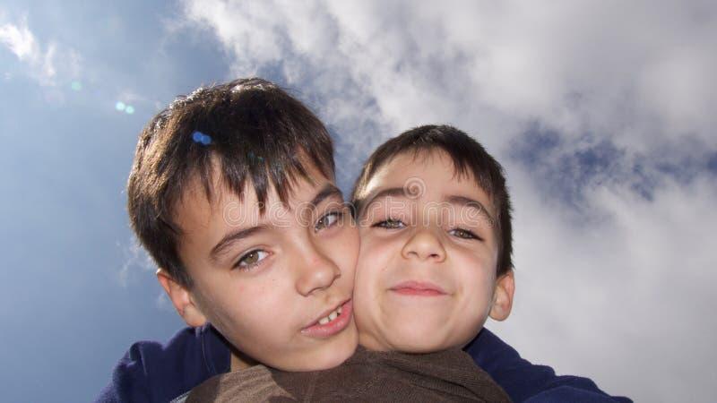 Ritratto dei fratelli fotografia stock libera da diritti