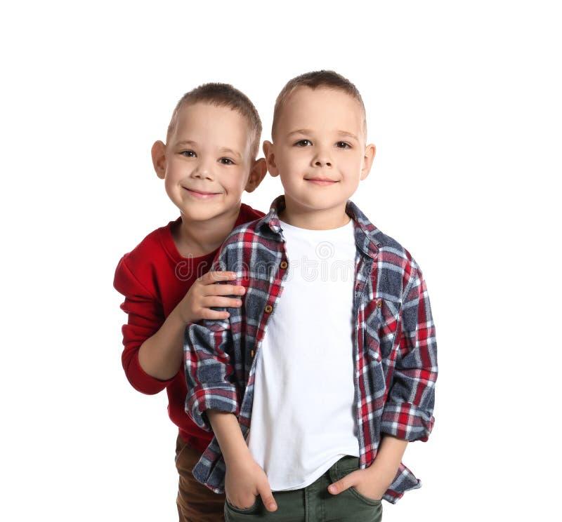 Ritratto dei fratelli gemelli svegli immagine stock libera da diritti