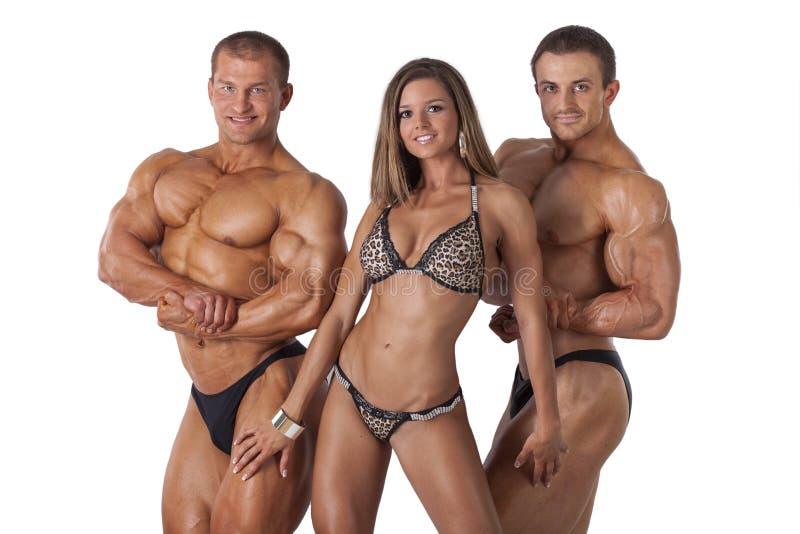 Ritratto dei giovani di forma fisica immagine stock