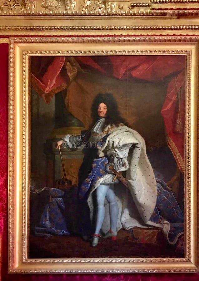 Ritratto dei Luigi XIV fotografia stock libera da diritti
