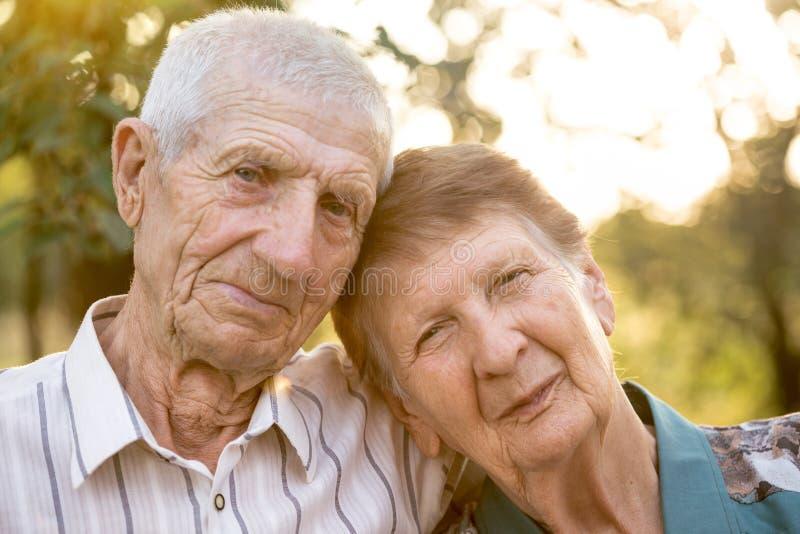 Ritratto dei nonni fotografie stock
