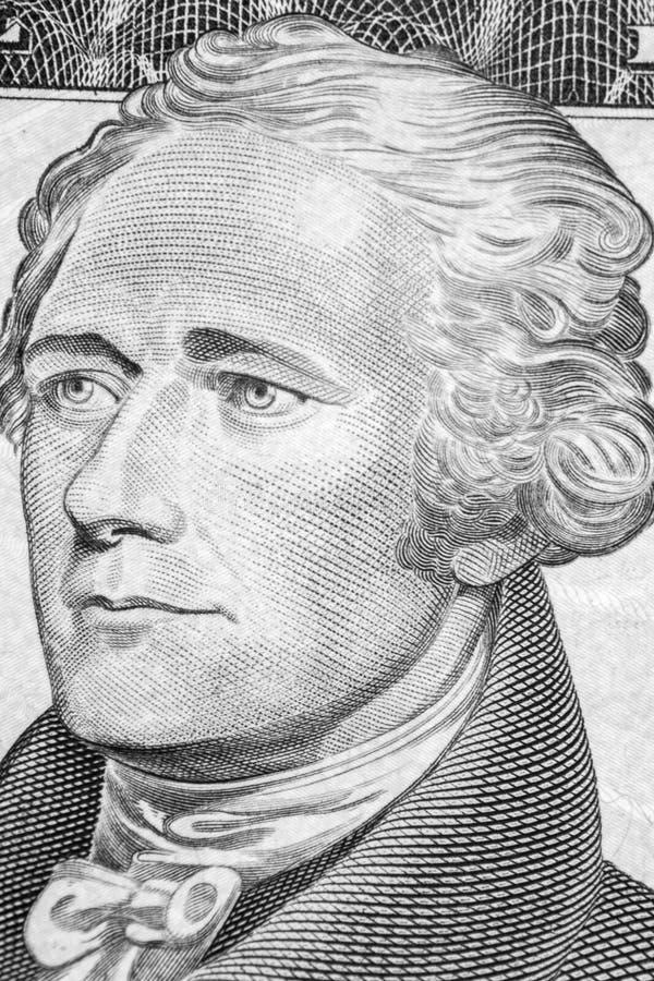 Ritratto del Alexander Hamilton immagini stock libere da diritti