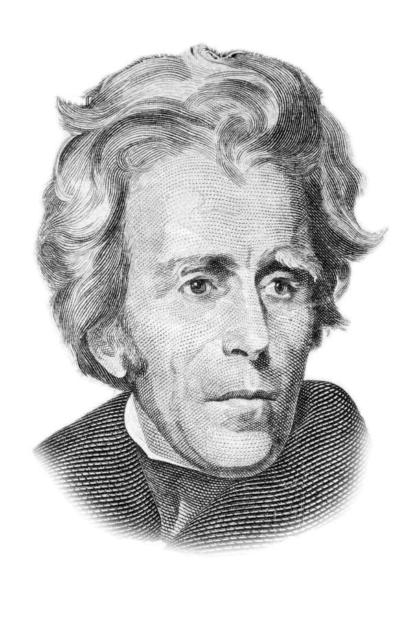 Ritratto del Andrew Jackson su venti dollari di fattura. illustrazione vettoriale