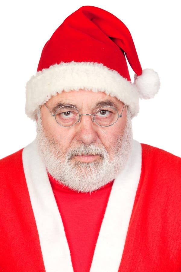 Ritratto del Babbo Natale arrabbiato immagini stock