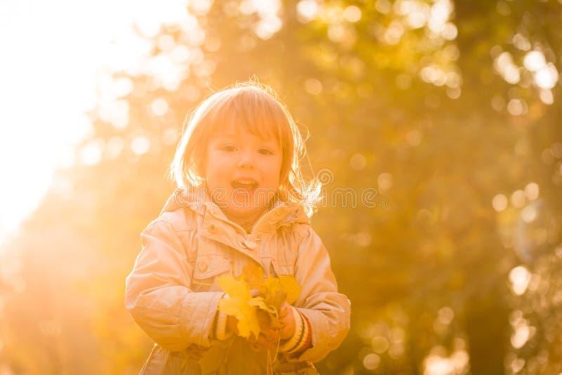 Ritratto del bambino di autunno immagini stock