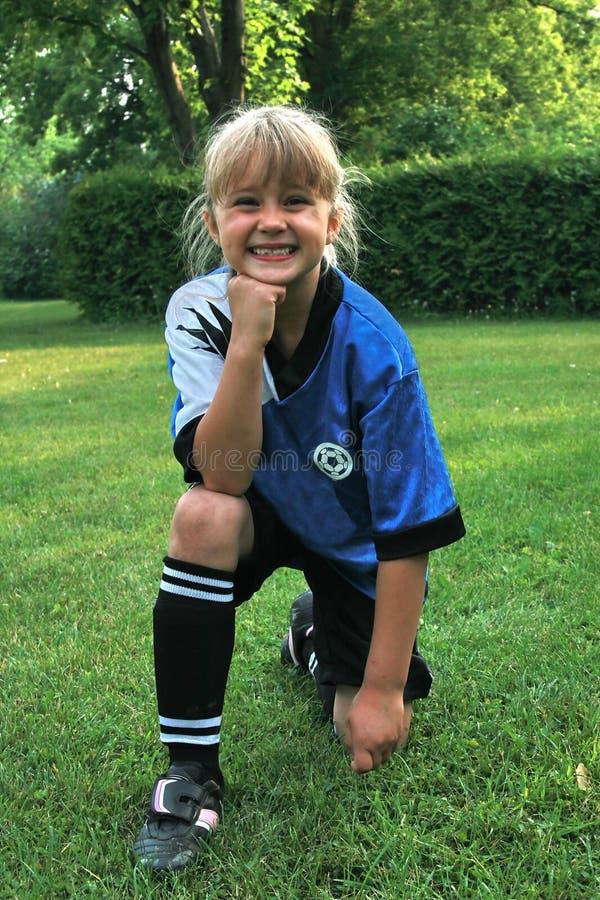 Ritratto del bambino di calcio fotografie stock