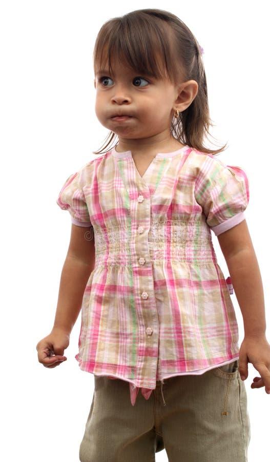 Ritratto del bambino pensive fotografia stock