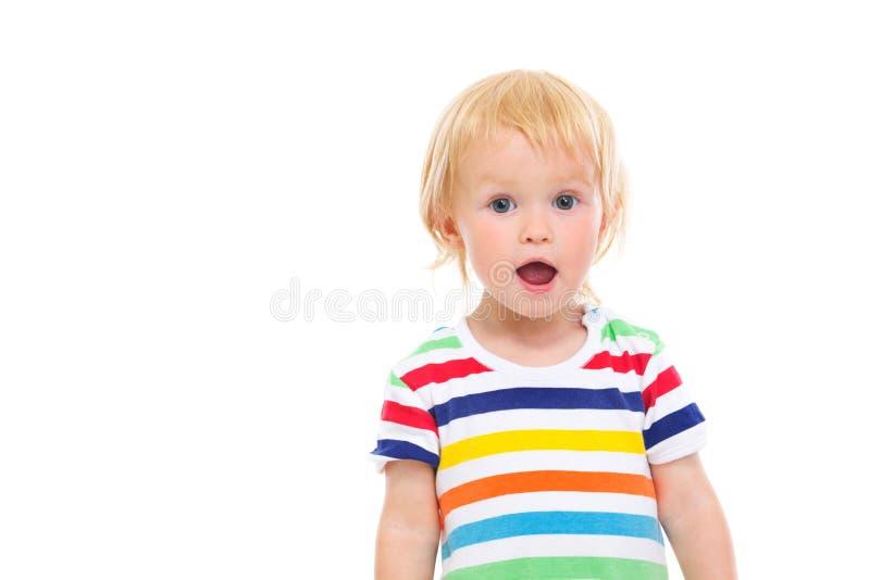 Ritratto del bambino sorpreso in costume da bagno fotografia stock libera da diritti