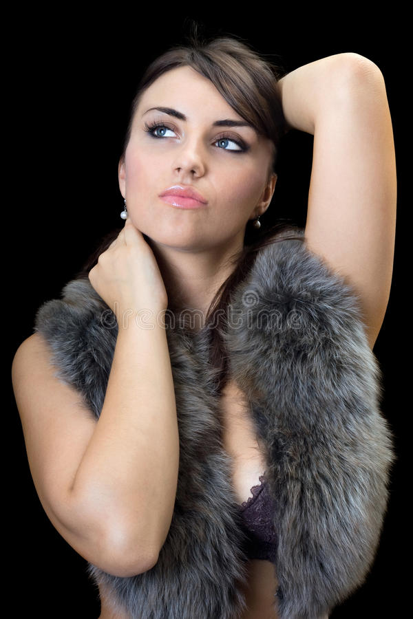 Ritratto del brunette grazioso immagine stock libera da diritti