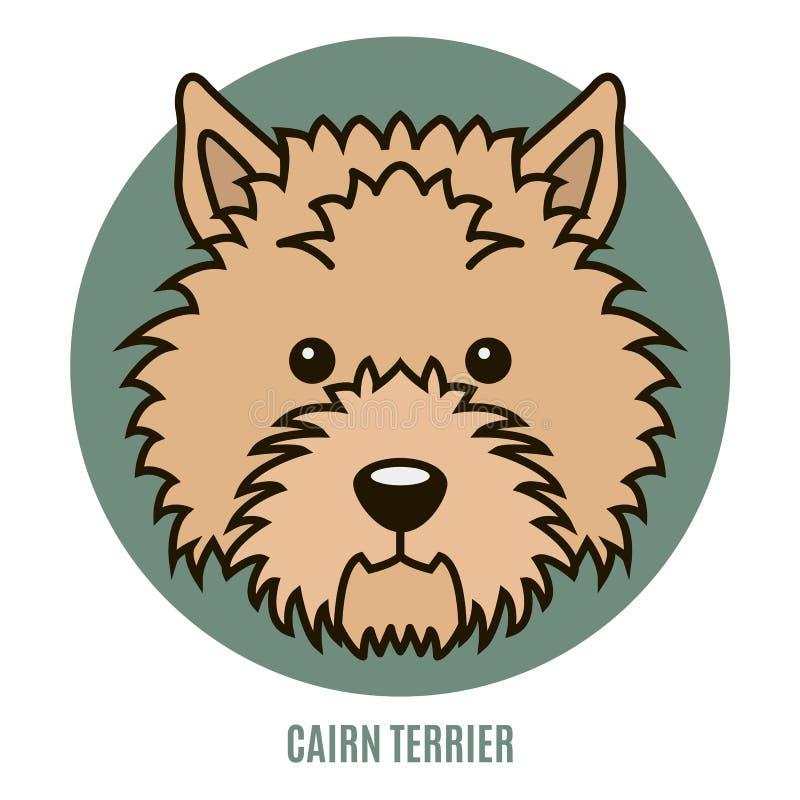 Ritratto del cairn Terrier Illustrazione di vettore illustrazione vettoriale