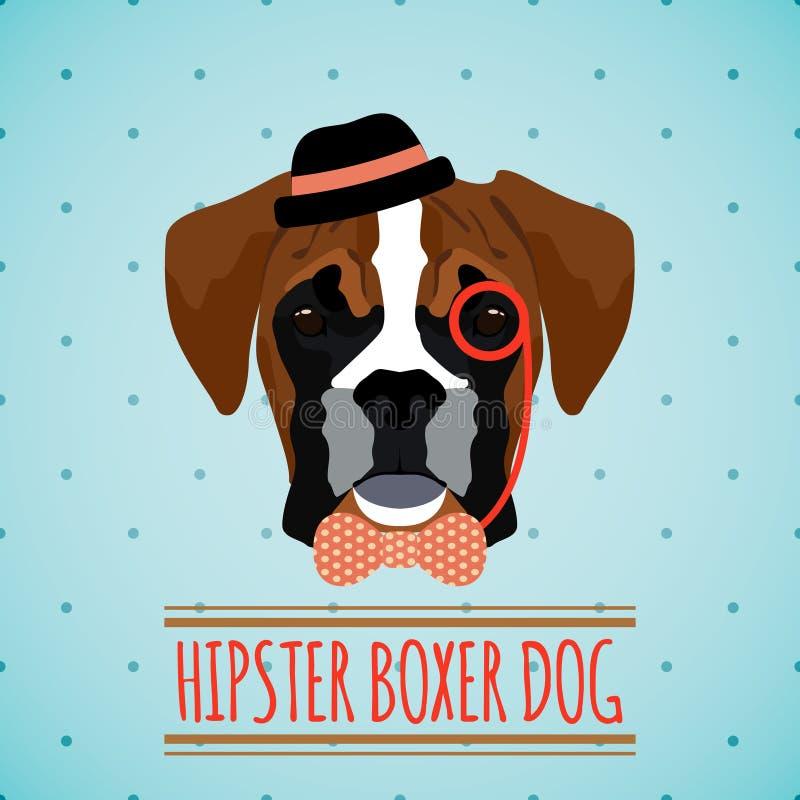 Ritratto del cane dei pantaloni a vita bassa illustrazione di stock
