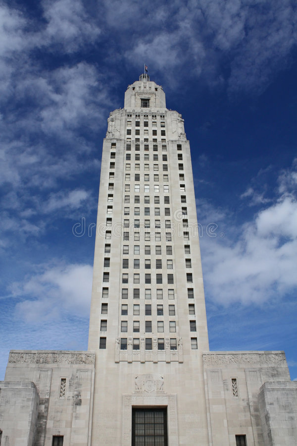Ritratto del capitale di Louisisana fotografia stock