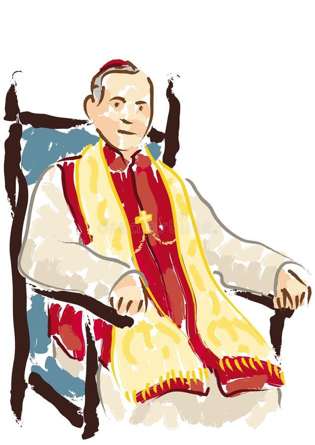 Ritratto del cardinale illustrazione vettoriale