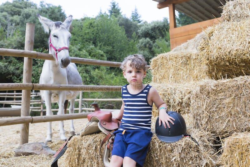 Ritratto del cavaliere del ragazzo immagini stock libere da diritti