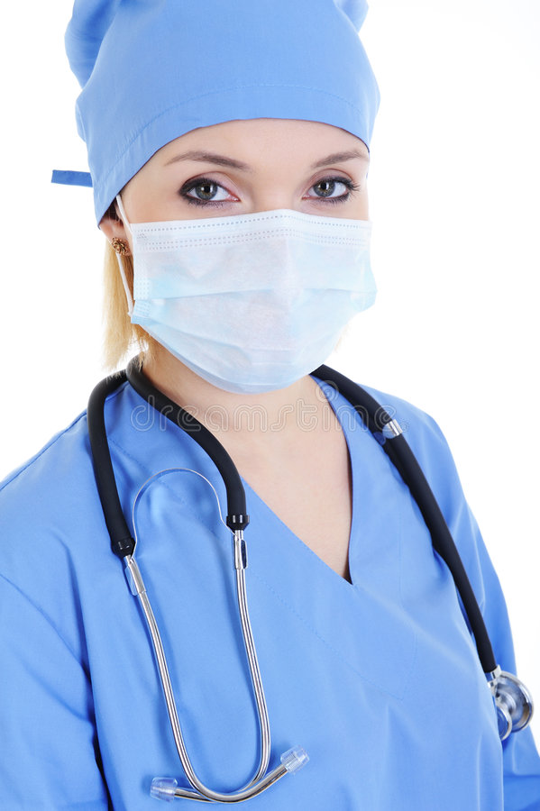 Ritratto del chirurgo della donna fotografia stock